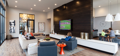 Resident lounge at CityWay in Indianapolis