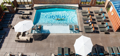 Outdoor pool at CityWay in Indianapolis