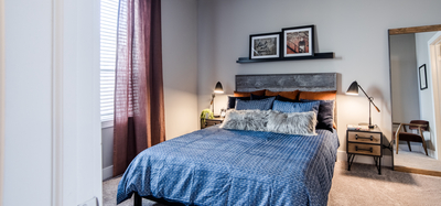 CityWay model home in Indianapolis showing off phase two features in the bedroom