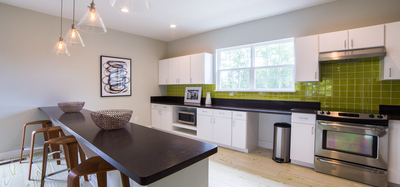 Resident kitchen at Gramercy in Carmel, Indiana