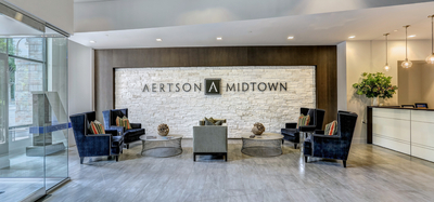 North tower entrance to Aertson Midtown