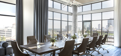 Meeting space at the Kimpton Aertson Hotel in Nashville